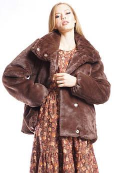Шуба женская коричневая TRG 128811S