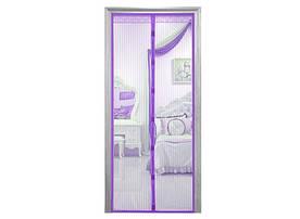 Дверная антимоскитная сетка на магнитах фиолетовая 429-42715303