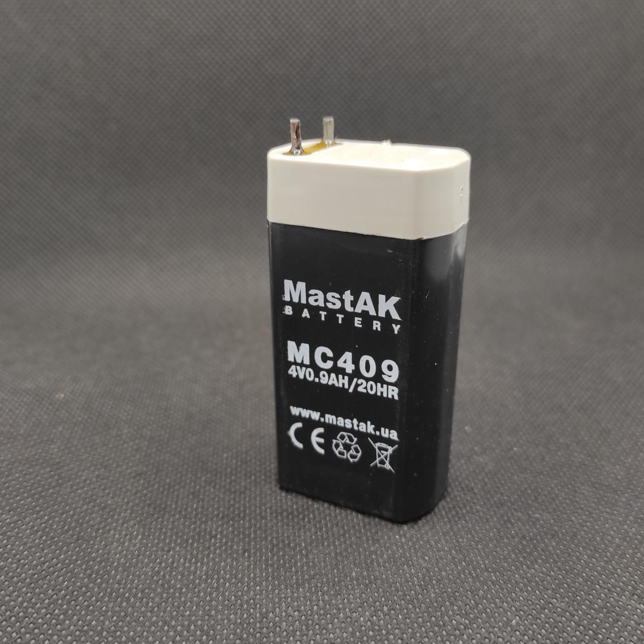 Аккумулятор Mastak MС409 ( 4V 900mAh )