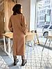 Премиальное длинное демисезонное пальто халат Милана, фото 7