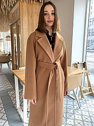 Премиальное длинное демисезонное пальто халат Милана