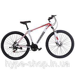"""Велосипед гірський найнер 29\"""" BeGasso Legend рама 19\"""" Біло-Червоний на ріст 170-185 см"""
