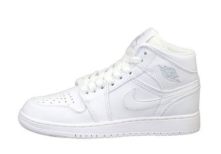 Баскетбольные кроссовки Air Jordan 1 Retro High White, фото 2