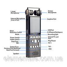 Цифровой стерео диктофон Savetek GS-R06 16 Гб 100 часов записи VOX SD до 64 Гб