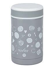 Термос металический для еды Nuvita 500 мл Серый (NV1472)