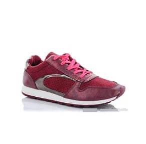 Стильные красные женские кроссовки, фото 2