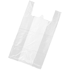 Пакет майка без рисунка  30*50 (уп/100шт; ящ/10уп) (6 мкр)