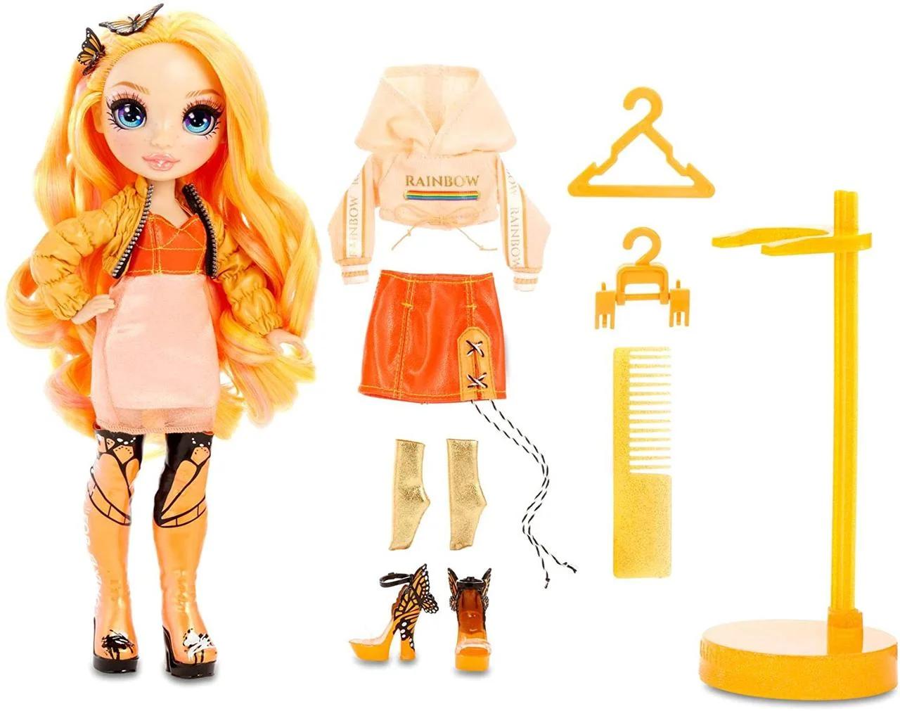 Кукла Рейнбоу Хай Поппи Роуэн Оранжевая Rainbow High Poppy Rowan Orange Fashion Оригинал Роуен Рован