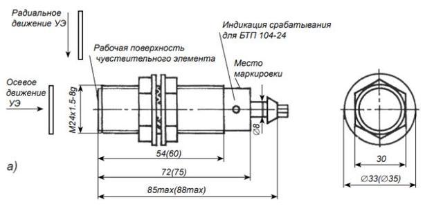 торцевій датчик БТП-103-24