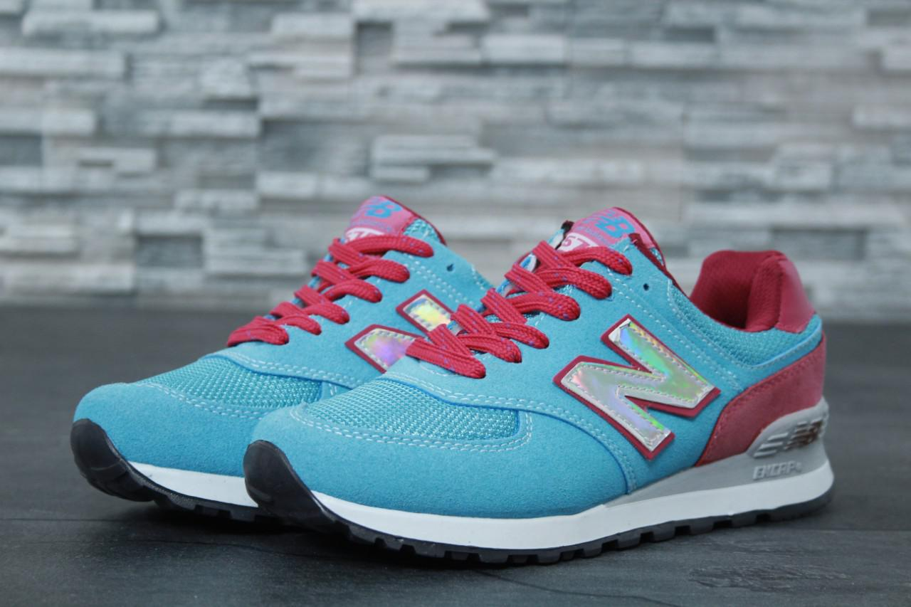Жіночі блакитні Кросівки New Balance 574