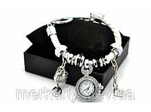Женские часы-браслет в стиле Пандора (Pandora). Подвеска