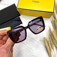 Женские солнцезащитные очки бабочки Фенди реплика с поляризацией, фото 1