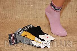 Жіночі шкарпетки середні з люрексом на резинці К1192,1191 PIER LONE 35-40 асорті к-1191 на резинці люр