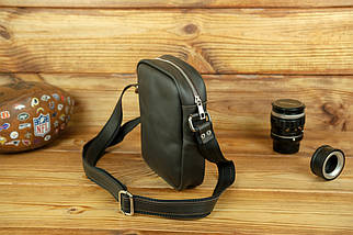 """Чоловіча сумка """"Модель №64"""", шкіра Grand, колір Шоколад, фото 3"""