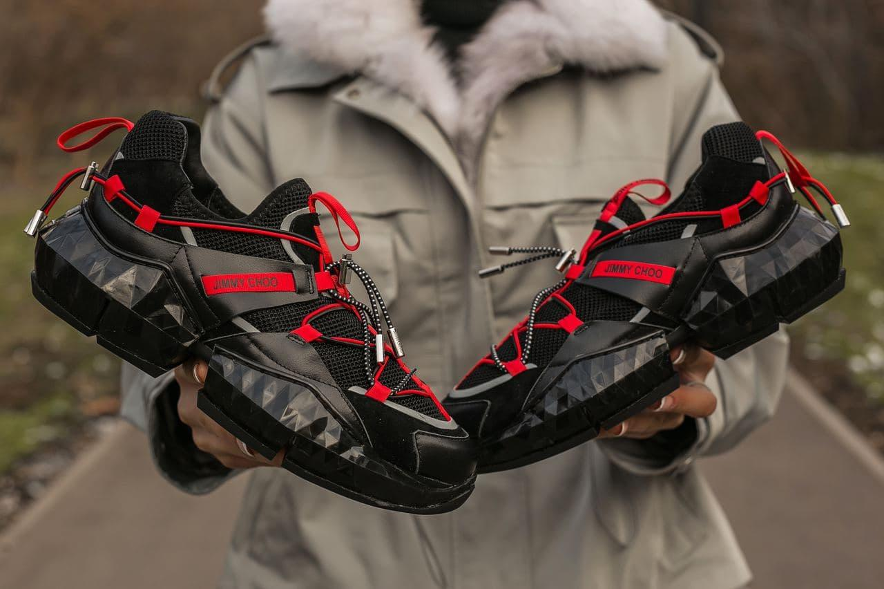 Жіночі чорні Кросівки JIMMY CHOO