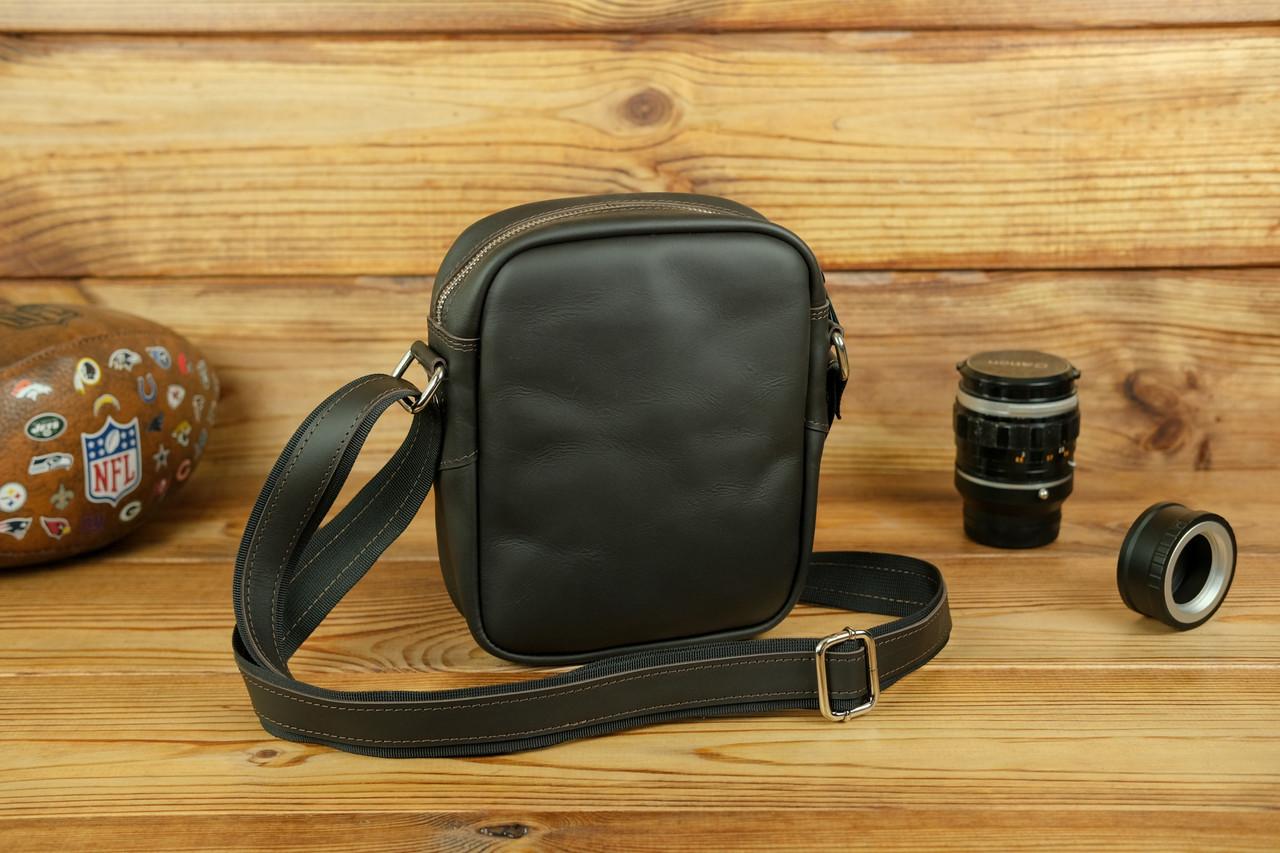 """Чоловіча сумка """"Модель №64"""", шкіра Grand, колір Шоколад"""