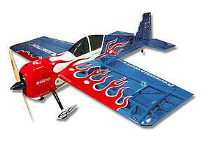 Самолёт радиоуправляемый Precision Aerobatics Addiction X 1270мм KIT (синий)