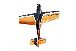 Самолёт радиоуправляемый Precision Aerobatics Extra MX 1472мм KIT (желтый)
