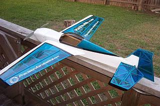 Самолёт радиоуправляемый Precision Aerobatics Katana Mini 1020мм KIT (синий)