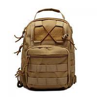 Туристический рюкзак на одну лямку OXFORD 600D Coyote (006880)