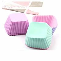 Набор силиконовых форм для выпечки кексов - Квадратная