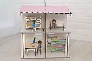 Ляльковий будиночок NestWood 4х-сторонній для ляльок ЛОЛ, 8 кімнат (поверх 20см), без меблів, рожевий, фото 2