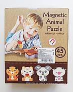 Магнитные пазлы животные Sinergy Toys MAgnetic Animal Puzzle 45 дет 8826-4, фото 2