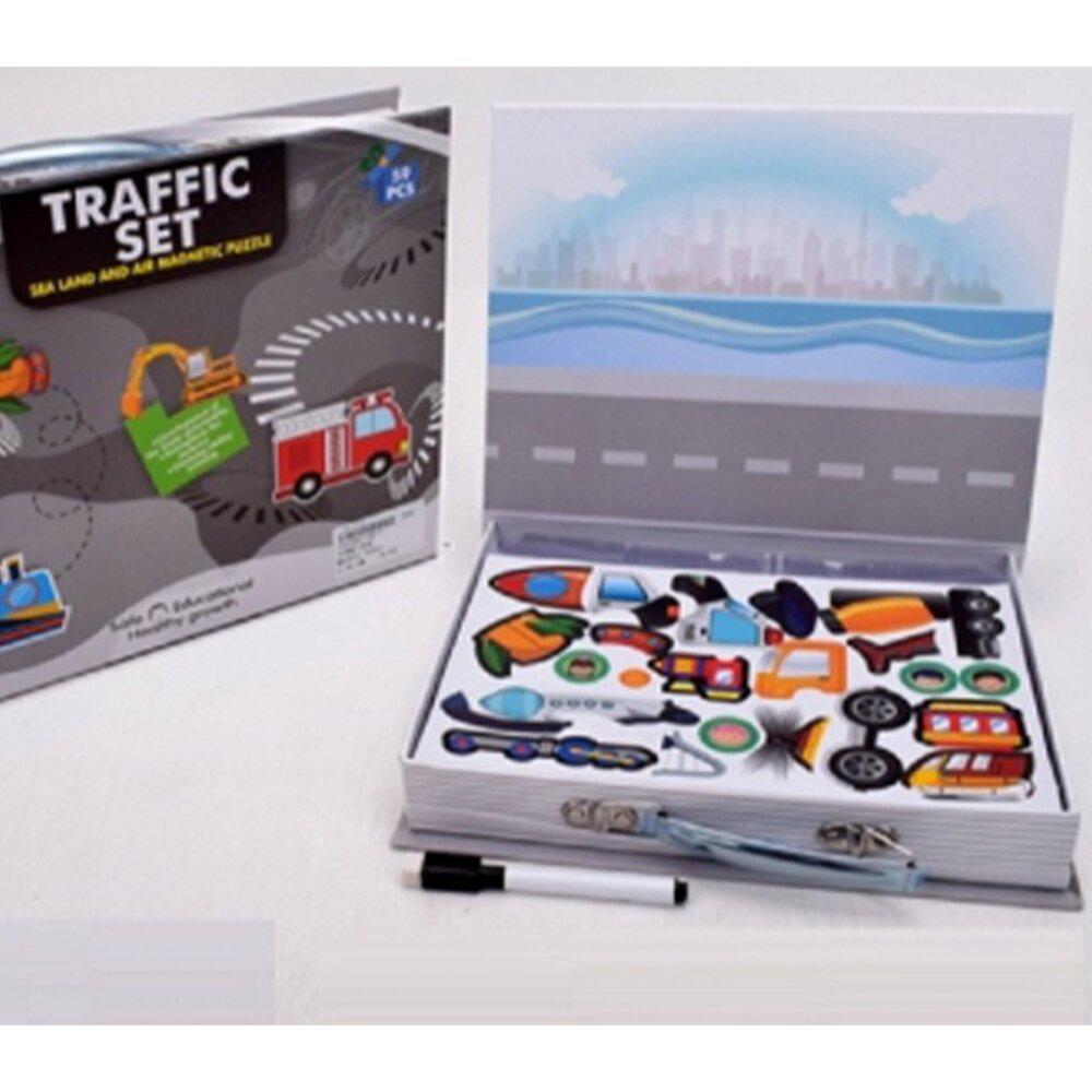 """Магнитная книга (набор для творчества) Magnetic book МагнетикБук """"Транспорт"""""""