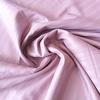 Сатин страйп темно-рожевий пудровий з підвищеною щільністю, ш. 240 см