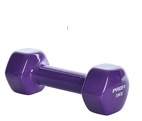 Гантели для фитнеса с виниловым покрытием Profi (2x3кг) (2шт) M 0291_3_violet