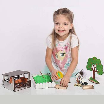 """Кукольный домик - игровой набор """"ФЕРМА"""" NestWood (комплектация MINI)"""
