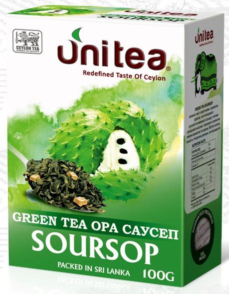 Зелений цейлонський чай з саусепом Юніті 100 г