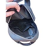 Рюкзак женский городской черный 096G, фото 6