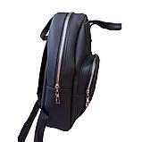 Рюкзак женский городской черный 096G, фото 4