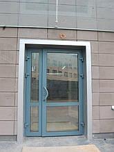 Двері протипожежні алюмінієві засклені до 90% ЕІ 30 зовнішні