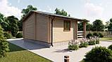 Будинок з термобревна 36 м2 Будівництво будинків з термобруса в Україні. Thermo Wooden House 020, фото 3