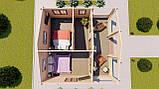 Будинок з термобревна 36 м2 Будівництво будинків з термобруса в Україні. Thermo Wooden House 020, фото 4