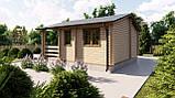 Будинок з термобревна 36 м2 Будівництво будинків з термобруса в Україні. Thermo Wooden House 020, фото 5