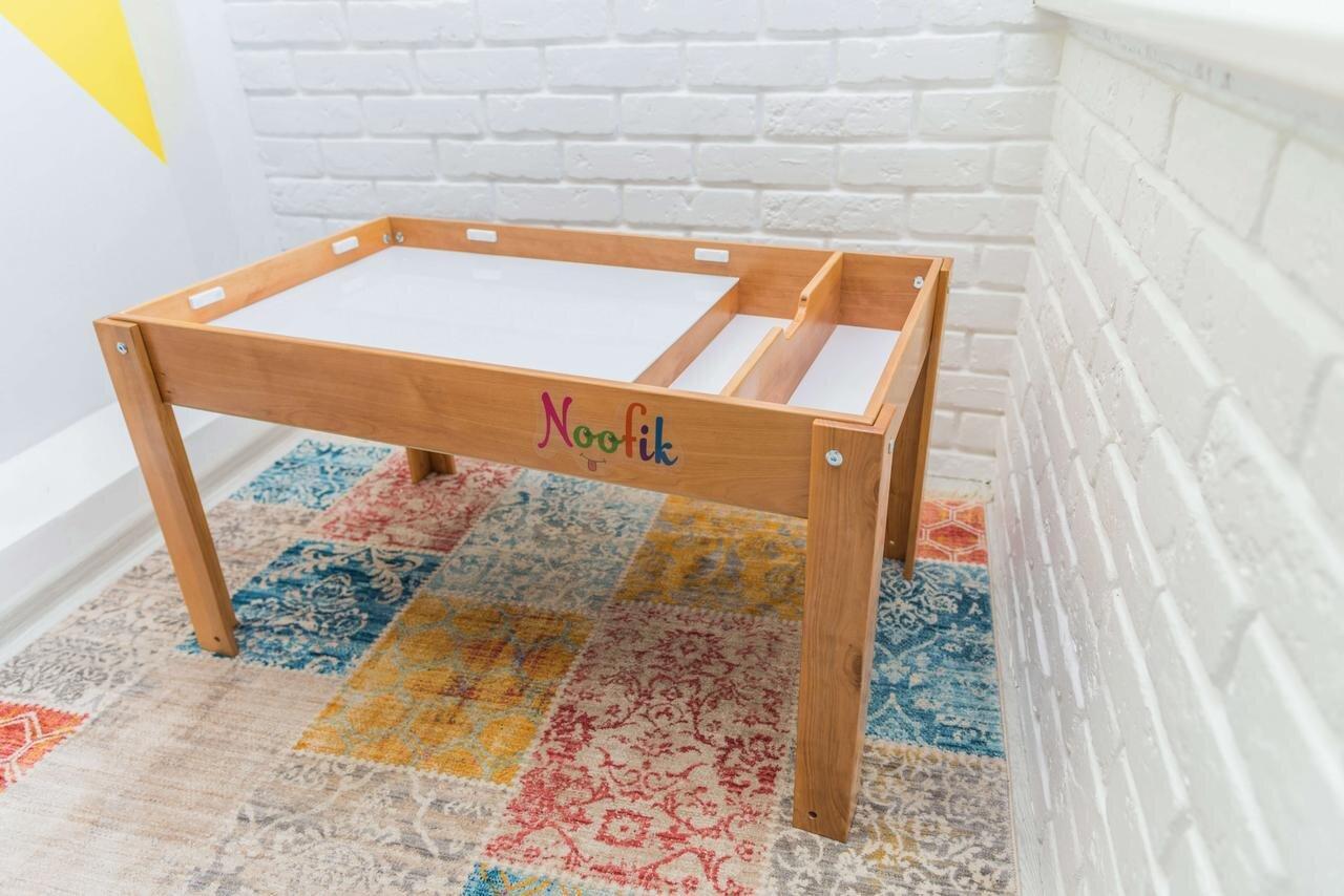 Световой стол-песочница Noofik (дерево ольха). Модель Standart/Universal с 2мя карманами. Комплект Базовый.