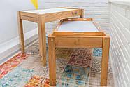 Световой стол-песочница Noofik (дерево ольха). Модель Standart/Universal с 2мя карманами. Комплект Базовый., фото 2