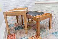 Световой стол-песочница Noofik (дерево ольха). Модель Standart/Universal с 2мя карманами. Комплект Базовый., фото 4