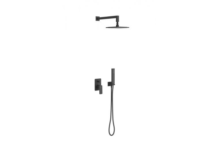Комплект Excellent для ванны и душа скрытого монтажа Keria черный