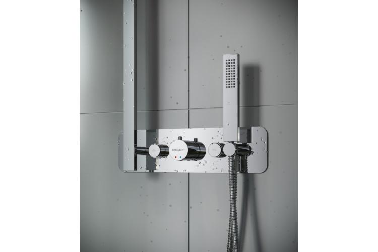 Смеситель Excellent термостатический KROTOS RAIN TERMO (2 точки подачи воды) AREX.8045CR