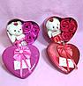 Подарочный набор роз из мыла и игрушка Мишка