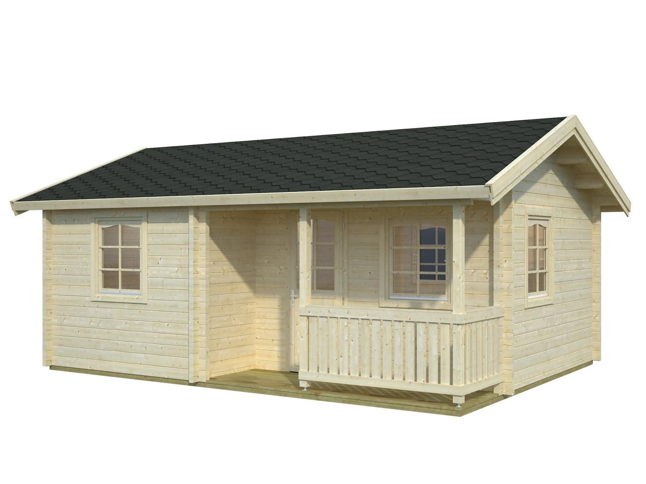 Дом из термообработанного бруса 29,14 м2. от производителя Thermo Wooden House 135