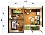 Дом из термообработанного бруса 29,14 м2. от производителя Thermo Wooden House 135, фото 4