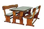 Комплект мебель деревянная 2500*800 для кафе, дачи от производителя, фото 5