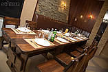 Комплект мебель деревянная 2500*800 для кафе, дачи от производителя, фото 7