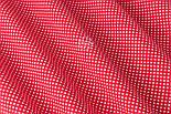 """Відріз тканини """"Пунктирний горошок"""" білий на червоному (№3300), розмір 140 * 160 см, фото 5"""