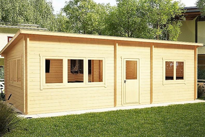 Беседка деревянная из профилированного бруса с закрытой комнатой 9х4 м. низкая цена от производителя